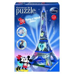"ΠΑΖΛ Ravensburger ""Mickey and Minnie Eiffel Tower 3D"" Puzzle 216 Κομμάτια"