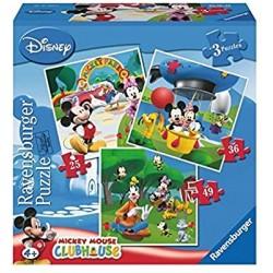 """ΠΑΖΛ  """"Mickey Mouse Club House"""" 3 Puzzles Ravensburger"""