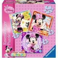 """ΠΑΖΛ 3 ΙΝ Α ΒΟΧ """"Minnie Mouse"""" Ravensburger"""