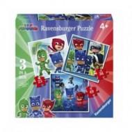 """ΠΑΖΛ 3 IN A BOX """"PJ MASKS the pajama Heroes"""" Ravensburger"""