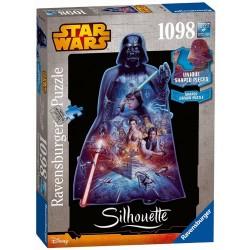 """ΠΑΖΛ Ravensburger """"Star Wars, Darth Vader - Silhouette Jigsaw"""" Puzzle (1098 Piece)"""