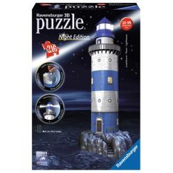 ΠΑΖΛ Ravensburger Lighthouse Night Edition 216 Κομμάτια 3D