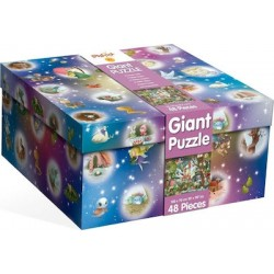 Ludattica Giant Puzzle The Magic Castle 48 Kομμάτια