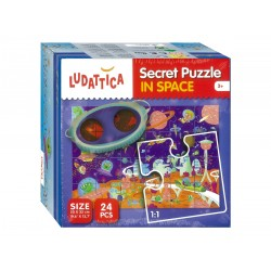 Ludattica Secrete Puzzle IN SPACE 24 Κομμάτια
