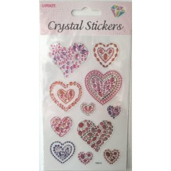 CRYSTAL STICKERS Καρδιά
