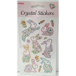CRYSTAL STICKERS Λαγουδάκια