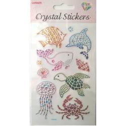 CRYSTAL STICKERS Ζώα της Θάλασσας