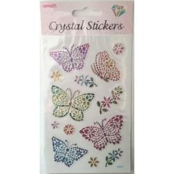 CRYSTAL STICKERS Πεταλούδα