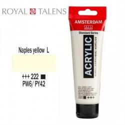 ΑΚΡΥΛΙΚΟ AMSTERDAM 120ML No 222 NAPLES YELLOW LIGHT