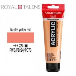 ΑΚΡΥΛΙΚΟ AMSTERDAM 120ML No 224 NAPLES YELLOW RED