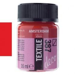 ΧΡΩΜΑ ΓΙΑ ΥΦΑΣΜΑ AMSTERDAM TEXTILE 16ML N. 387 BRIGHT RED