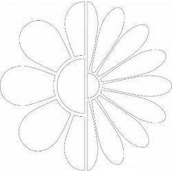 STENCIL ΛΟΥΛΟΥΔΙΑ 31.5Χ31.5CM ARTEMIO