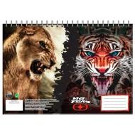 ΜΠΛΟΚ ΖΩΓΡΑΦΙΚΗΣ 23Χ33 30 ΦΥΛΛΑ DESERT LION AND INDIA TIGER NO FEAR