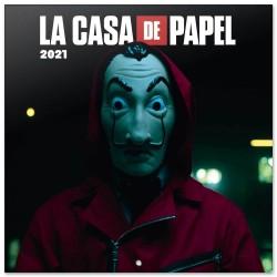 ΗΜΕΡΟΛΟΓΙΟ ΤΟΙΧΟΥ 2021 30Χ30 LA CASA DE PAPEL