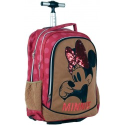 "ΤΣΑΝΤΑ TROLLEY SUEDE ""MINNIE"" 46X35X15"