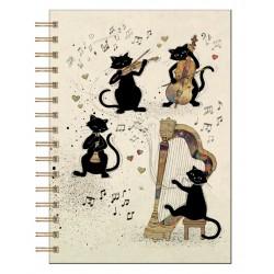 ΣΗΜΕΙΩΜΑΤΑΡΙΟ KIUB MUSICAL CATS 15.5X21.5CM