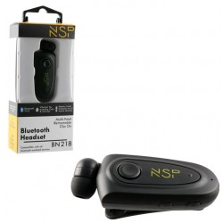 BLUETOOTH BN218 RETRACTABLE CLIP ΣΤΟ ΑΥΤΙ ΜΑΥΡΟ