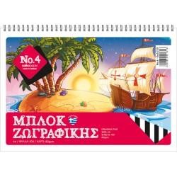 ΜΠΛΟΚ ΖΩΓΡΑΦΙΚΗΣ Ν.4 21Χ29 100 ΦΥΛΛΑ SALKO PAPER