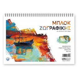ΜΠΛΟΚ ΖΩΓΡΑΦΙΚΗΣ Ν.5 21Χ29 80 ΦΥΛΛΑ SALKO PAPER