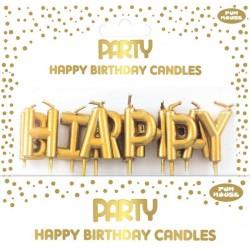 ΚΕΡΑΚΙΑ HAPPY BIRTHDAY GOLD