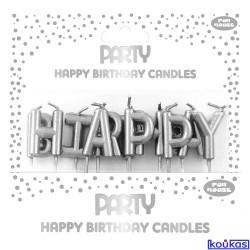 ΚΕΡΑΚΙΑ HAPPY BIRTHDAY SILVER