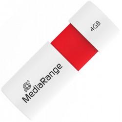 USB 2.0 MEDIARANGE 4GB RED