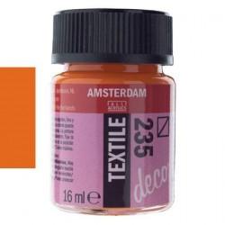 ΧΡΩΜΑ ΓΙΑ ΥΦΑΣΜΑ Amsterdam Textile 16ml No235 Πορτοκαλί