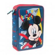 Κασετίνα Διπλή Γεμάτη 15x5x21 Mickey 3D MC16